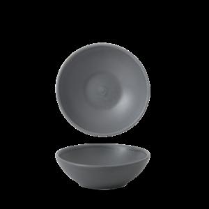 Churchill Seattle Grey Contour Shallow Bowl 13x4.2cm