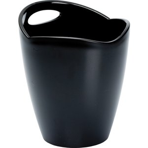 Non Food Company Ice Bucket Frosted Black Plastic 22*24 cm 3 L