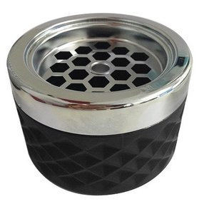 Non Food Company Windproof Ashtray black with chrome cap