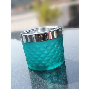 Non Food Company Windproof Ashtray blue with chrome cap