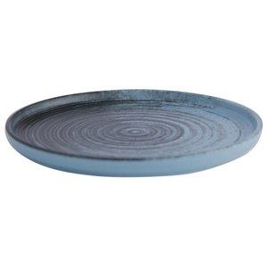 Porland Porland | Lykke Turquoise Bord Opstaande Rand 18cm