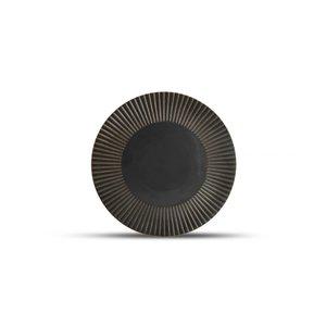 F2D F2D | Brass Plat bord 27,5cm gestreept silver