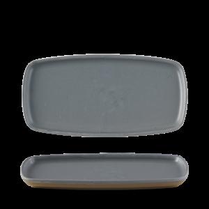 Churchill Seattle Grey Oblong Plate  30x14.7cm