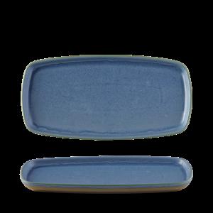 Churchill Emerge Oslo Blue Oblong Plate  30x14.7cm