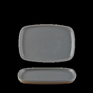 Churchill Seattle Grey Oblong Plate  22x15cm