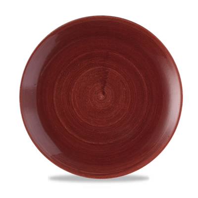 Churchill Patina Red Rust Evolve Coupe Plate  28.8cm