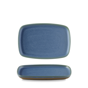 Churchill Emerge Oslo Blue Oblong Plate  22x15cm
