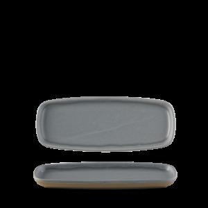 Churchill Seattle Grey Oblong Plate  25.1x10cm