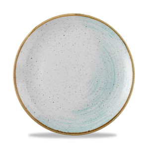 Churchill Stonecast Accents Duck Egg Evolve Coupe Plate  26cm