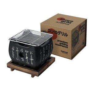 Non Food Company Konro Grill Large+Square Wooden Base 15x15x13.5cmh