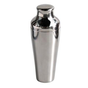 2pcs Parisian Cocktail Shaker stainless steel polished