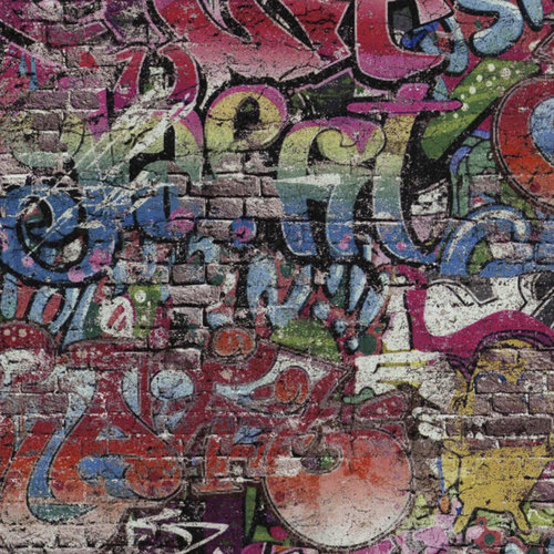 Grafitty behang