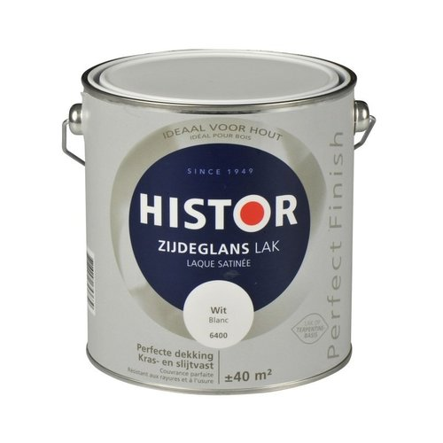 Histor Perfect Finish Lak Zijdeglans 2,5l  Wit