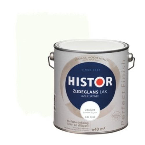 Histor Perfect Finish Lak Zijdeglans 2,5l Zonlicht (RAL 9010)