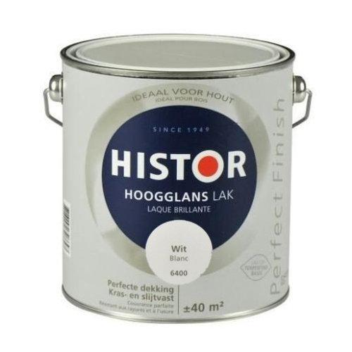 Histor Perfect Finish Lak Hoogglans 2,5l Wit