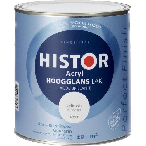Histor Acryl Hoogglans Lak 750 ml Leliewit