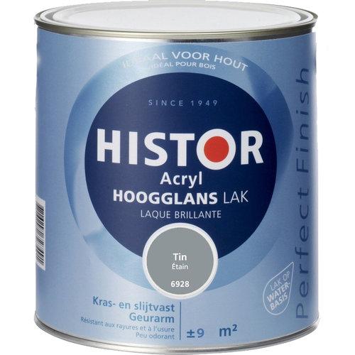 Histor Acryl Hoogglans Lak 750 ml Tin