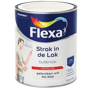Flexa Strak In De Lak Buitenlak Hoogglans 750 ml RAL 9010