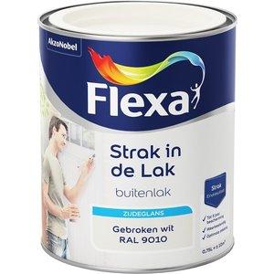 Flexa Strak In De Lak Buitenlak Zijdeglans 750 ml RAL 9010