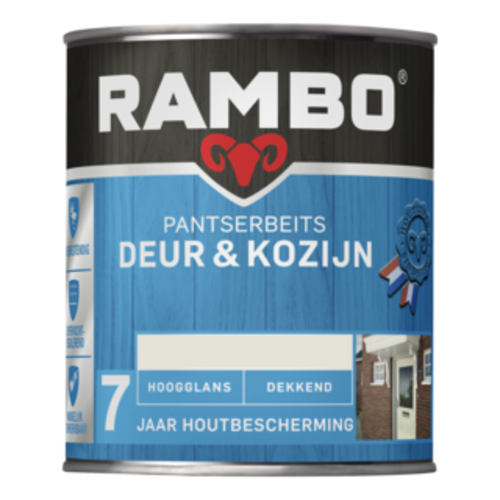 Rambo Pantserbeits Deur & Kozijn Hoogglans Dekkend 750 ml - Boerenwit