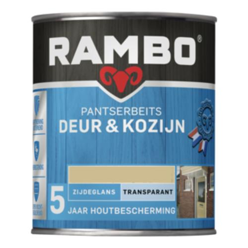 Rambo Pantserbeits Deur & Kozijn Zijdeglans Transparant 750 ml - Lichteiken