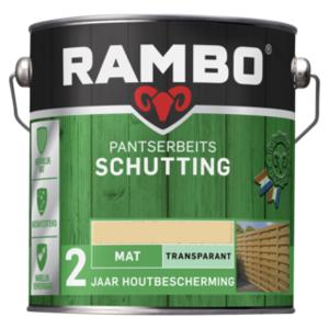 Rambo Pantserbeits Schutting Mat Transparant 2,5 liter - Blank