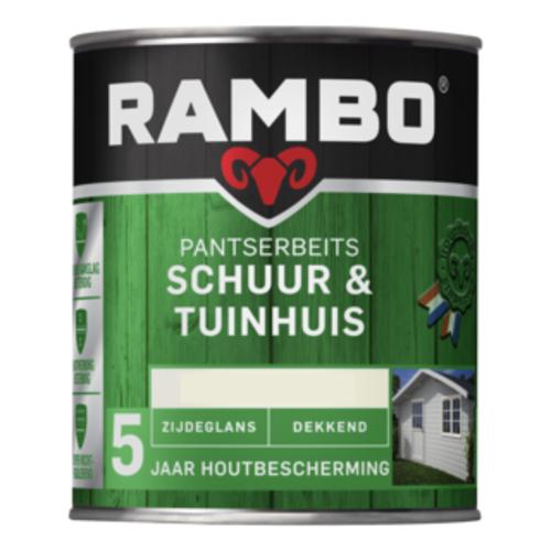 Rambo Pantserbeits Schuur & Tuinhuis Zijdeglans Dekkend 750 ml - RAL 9010