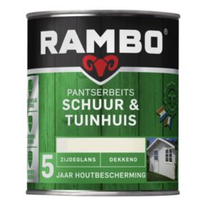 Rambo Pantserbeits Schuur & Tuinhuis Zijdeglans Dekkend 750 ml - Bosgroen