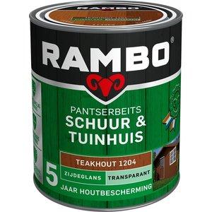 Rambo Pantserbeits Schuur & Tuinhuis Zijdeglans Transparant - 750 ml Teakhout