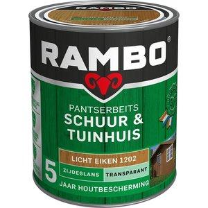 Rambo Pantserbeits Schuur & Tuinhuis Zijdeglans Transparant - 750 ml Licht eiken