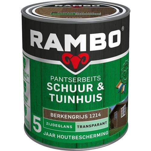 Rambo Pantserbeits Schuur & Tuinhuis Zijdeglans Transparant - 750 ml Berkengrijs