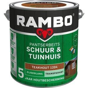 Rambo Pantserbeits Schuur & Tuinhuis Zijdeglans Transparant - 2,5 liter Teakhout
