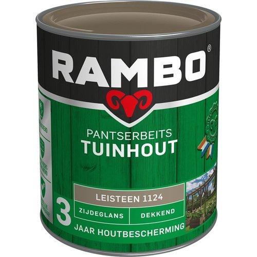 Rambo Pantserbeits Tuinhout Zijdeglans Dekkend - 750 ml Leisteengrijs