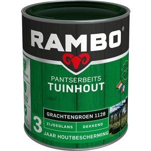 Rambo Pantserbeits Tuinhout Zijdeglans Dekkend - 750 ml Grachtengroen