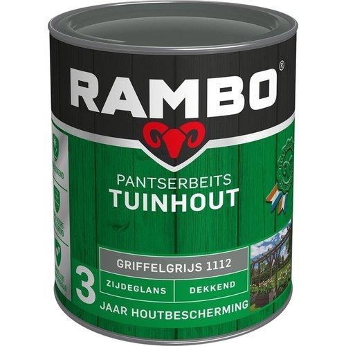 Rambo Pantserbeits Tuinhout Zijdeglans Dekkend - 750 ml Griffelgrijs