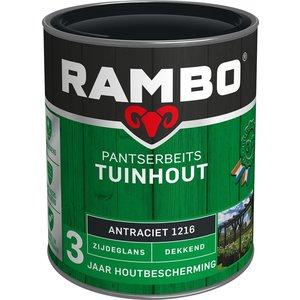 Rambo Pantserbeits Tuinhout Zijdeglans Dekkend - 750 ml Antraciet