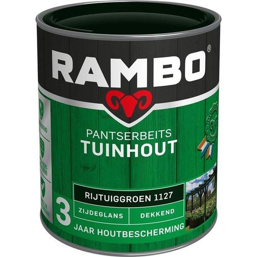 Rambo Pantserbeits Tuinhout Zijdeglans Dekkend - 750 ml Rijtuiggroen