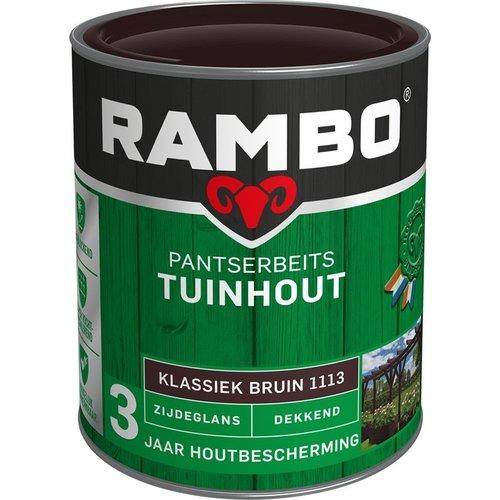 Rambo Pantserbeits Tuinhout Zijdeglans Dekkend - 750 ml Klassiek bruin