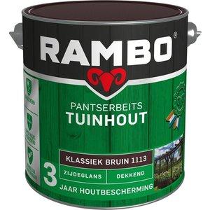 Rambo Pantserbeits Tuinhout Zijdeglans Dekkend - 2,5 liter Klassiek bruin