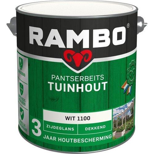Rambo Pantserbeits Tuinhout Zijdeglans Dekkend - 2,5 liter Wit