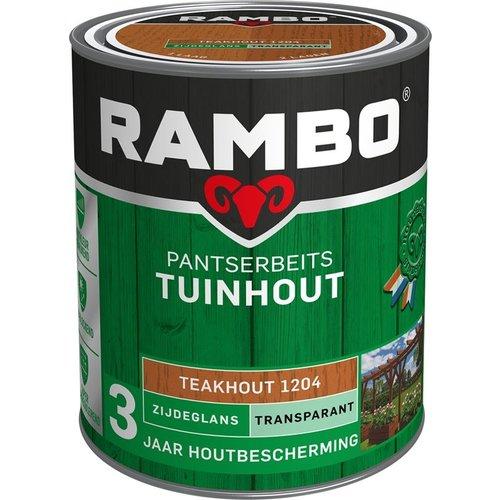Rambo Pantserbeits Tuinhout Zijdeglans Transparant - 750 ml Teakhout