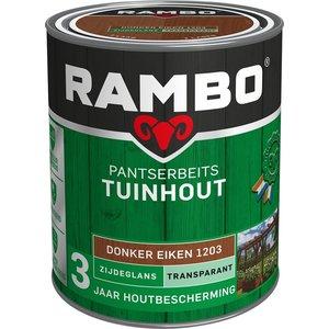 Rambo Pantserbeits Tuinhout Zijdeglans Transparant - 750 ml Donker eiken