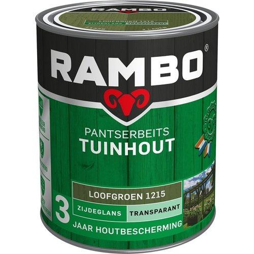 Rambo Pantserbeits Tuinhout Zijdeglans Transparant - 750 ml Loofgroen