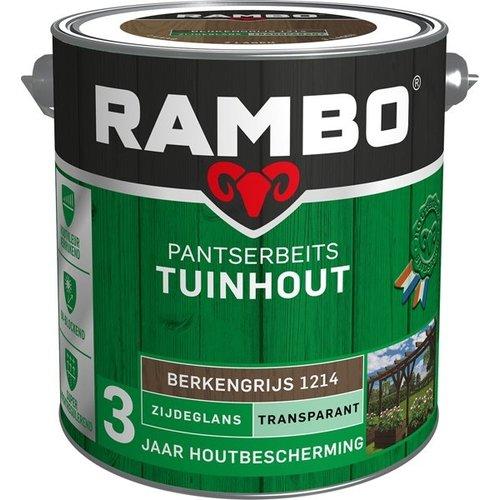 Rambo Pantserbeits Tuinhout Zijdeglans Transparant - 2,5 liter Berkengrijs