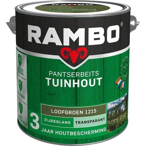 Rambo Pantserbeits Tuinhout Zijdeglans Transparant - 2,5 liter Loofgroen
