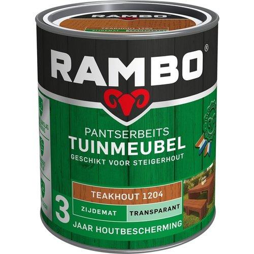 Rambo Pantserbeits Tuinmeubel Zijdemat Transparant - 750 ml Teakhout