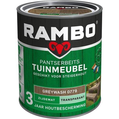Rambo Pantserbeits Tuinmeubel Zijdemat Transparant - 750 ml Greywash