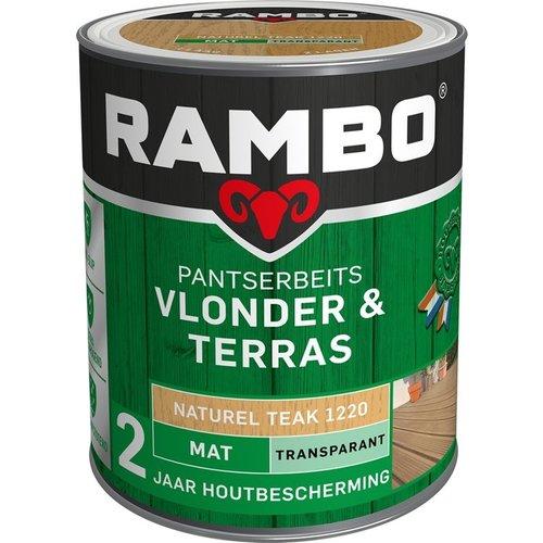 Rambo Pantserbeits Vlonder & Terras Mat Transparant - 1 liter Naturel teak