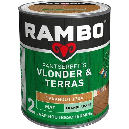 Rambo Pantserbeits Vlonder & Terras Mat Transparant - 1 liter Teakhout