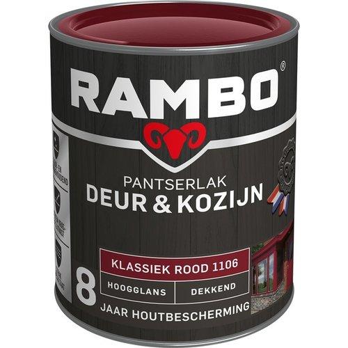 Rambo Pantserlak Deur & Kozijn Hoogglans Dekkend - 750 ml Klassiek rood